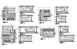 Sanitary section and installation details of hospital building dwg file