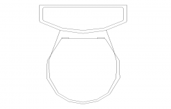 Sanitary sitting toilet detail elevation 2d view layout dwg file