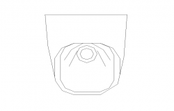 Sanitary sitting toilet detail elevation 2d view layout file