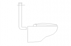 Sanitary toilet 2d view layout autocad file