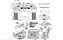 Sanitary toilet and stair structure detail 2d view layout file in autocad format
