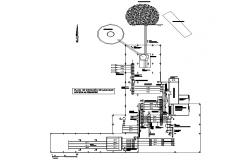 Saw mill plan detail dwg file