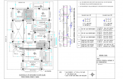 Schedule of ground floor slab detail dwg file