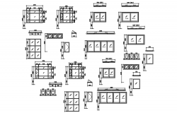 Schedules of windows in dwg file