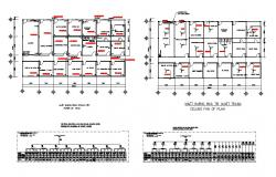Schematic diagram, ceiling fan and electrical installation details of staff house dwg file