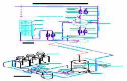 Scheme of gas water heater design drawing