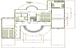 School Architecture Design Structure and Section Details dwg file