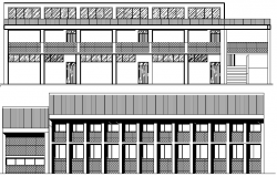 School Architecture Design and Elevation Plan dwg file