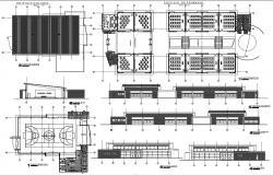 School Building CAD Drawing