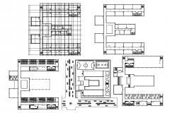 School Building Plan CAD File