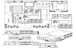 School Building Plan DWG File