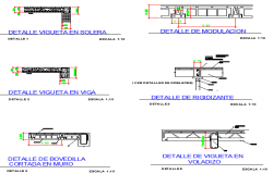 School Construction and Elevation Details dwg file