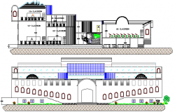 School Flooring Plan Project and Elevation Details dwg file