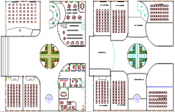School Flooring Plan Project and Structure Details dwg file