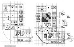 School Library Plan CAD Drawing