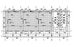 School and classrooms second floor distribution plan details dwg file