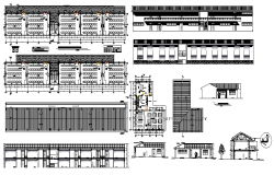 School building plan design view dwg file