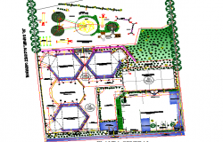 School building plan detail dwg file
