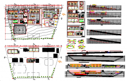 School building plan layout design view dwg file