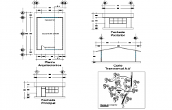 School class room plan autocad file