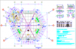 School classroom plan with detail view and door and winnow detail dwg file