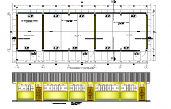 School classroom project plan detail dwg detail.,