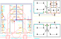 School classrooms and sanitary installation project dwg file