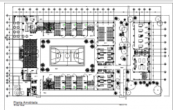 School commercial building plan dwg file