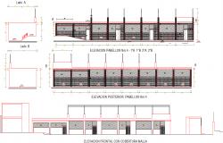 School elevation 3d elevation design dwg file