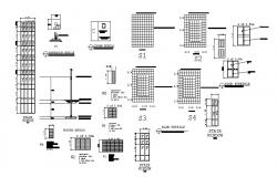 School footings, doors and windows, slab and auto-cad details dwg file