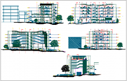 School of architect elevation dwg file
