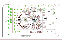 School of architecture ground floor plan dwg file