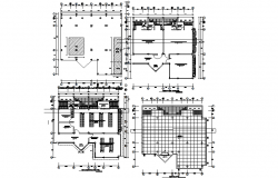 School plan detail dwg file