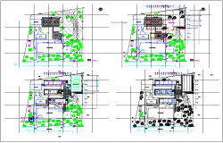 School plan layout view detail dwg file