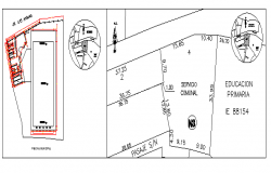School site plan details dwg file