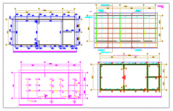 School two classrooms transition details dwg file