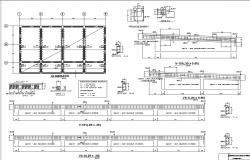 Science college foundation plan with construction details dwg file