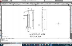 Screw rod and handle bar drawing