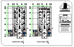 Second & Third floor layout design drawing of specialist clinic design drawing