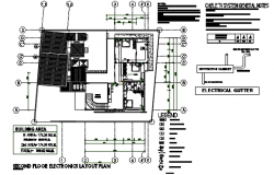 Second floor Electric plan detail dwg file