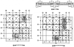 Second floor and third floor plan detail dwg file