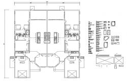 Second floor framing plan and plan details of house dwg file