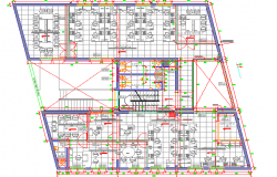 Second floor layout plan details of administrative office dwg file.