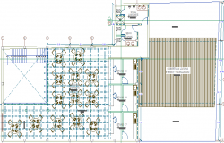 Second floor layout plan details of commercial store dwg file