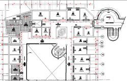 Second floor layout plan details of fish processing plant dwg file