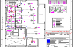 Second floor layout plan details of thirteen flooring office building dwg file