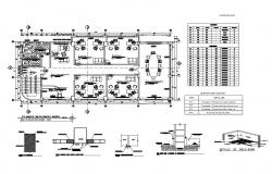 Second floor plan details of corporate office building dwg file