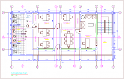 Second floor plan of office area dwg file