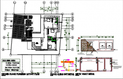 Second floor plumbing plan detail dwg file