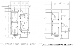 Second floor power layout plan